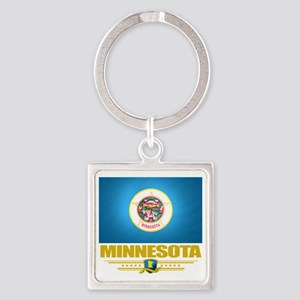Minnesota (Flag 10) Square Keychain