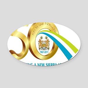 Sierra-Leone-50th-Anniversary1 Oval Car Magnet
