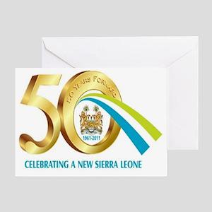Sierra-Leone-50th-Anniversary1 Greeting Card