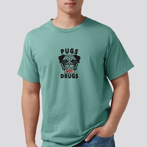 Pugs Not Drugs Mens Comfort Colors Shirt