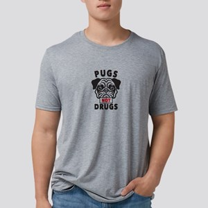 Pugs Not Drugs Mens Tri-blend T-Shirt