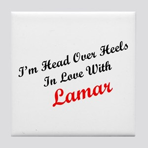 In Love with Lamar Tile Coaster