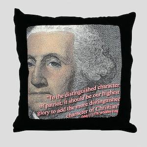 Christian Founding Fathers Washington Pillow