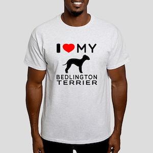 I Love My Bedlington Terrier Light T-Shirt