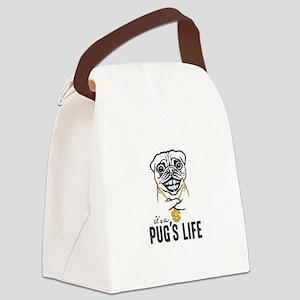 Pug's Life Canvas Lunch Bag