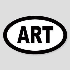 Art Car Oval Sticker