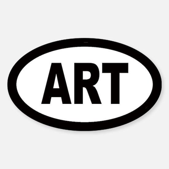 Art Car Oval Decal