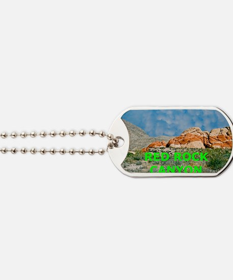 Red Rock Canyon Aluminum License Plate Dog Tags