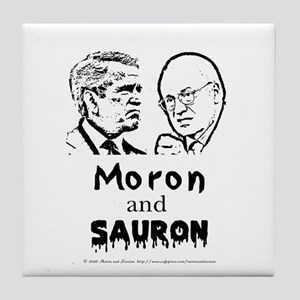 Moron and Sauron Tile Coaster