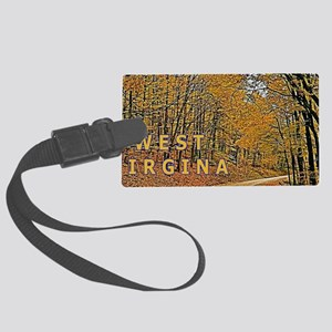 West Virginia Country Roads Lice Large Luggage Tag
