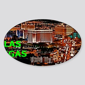 Las Vegas Strip Aluminum License Pl Sticker (Oval)