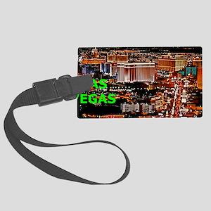 Las Vegas Strip Aluminum License Large Luggage Tag