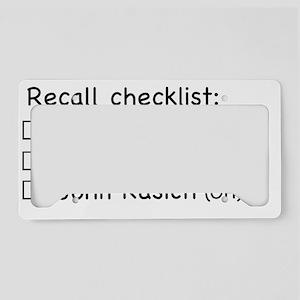 Recall2 License Plate Holder