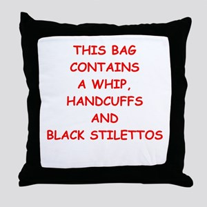 STILETTOS Throw Pillow