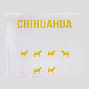 Chihuahua Stubborn Tricks Throw Blanket