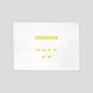 Chihuahua Stubborn Tricks 5'x7'Area Rug
