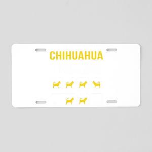 Chihuahua Stubborn Tricks Aluminum License Plate