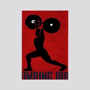 pumping_iron_78_ipad_case_red Rectangle Magnet