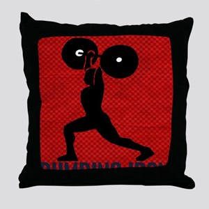 pumping_iron_78_ipad_case_red Throw Pillow