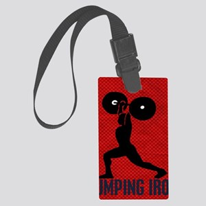 pumping_iron_78_ipad_case_red Large Luggage Tag