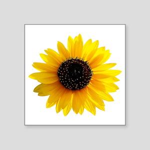 "Sunflower Square Sticker 3"" x 3"""