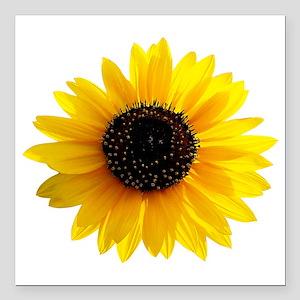"Sunflower Square Car Magnet 3"" x 3"""