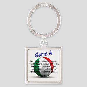 seriea1 Square Keychain