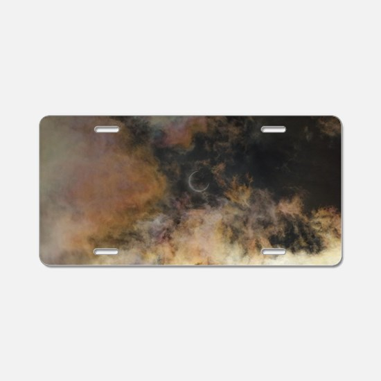 Solar Eclipse and Clouds Aluminum License Plate