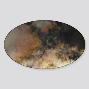 Solar Eclipse and Clouds Sticker