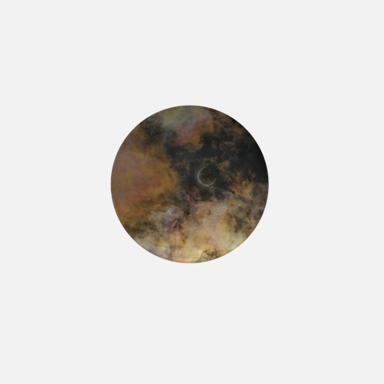 Solar Eclipse and Clouds Mini Button