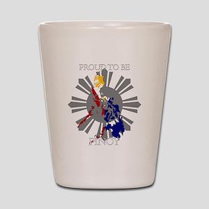 proud-pinoy-dark-sun Shot Glass