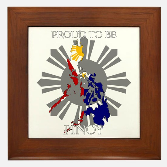 proud-pinoy-dark-sun Framed Tile