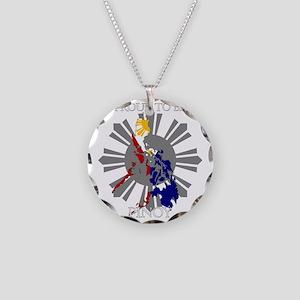 proud-pinoy-dark-sun Necklace Circle Charm