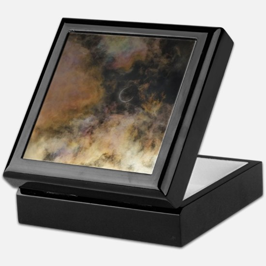 Solar Eclipse and Clouds Keepsake Box