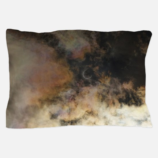 Solar Eclipse and Clouds Pillow Case