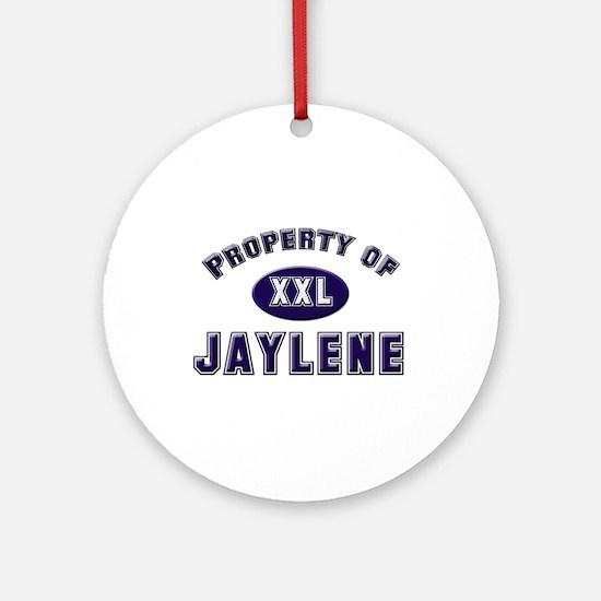 Property of jaylene Ornament (Round)