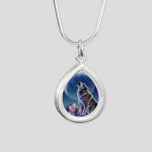 WOLF Silver Teardrop Necklace