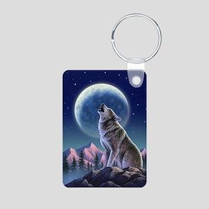 WOLF Aluminum Photo Keychain