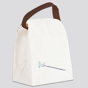 365 lax bro stick_white Canvas Lunch Bag