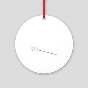 365 lax bro stick_white Round Ornament
