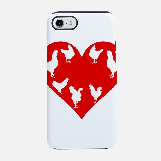 CHICKEN AND HEART iPhone 7 Tough Case