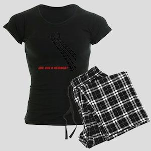 BusCurveBack copy Women's Dark Pajamas