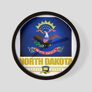 North Dakota (Flag 10) Wall Clock