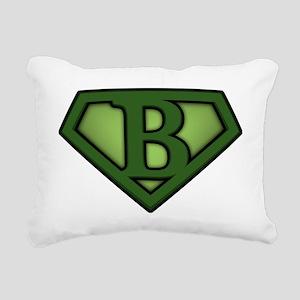 Super green b Rectangular Canvas Pillow