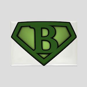 Super green b Rectangle Magnet