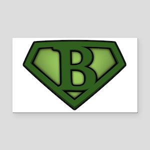Super green b Rectangle Car Magnet