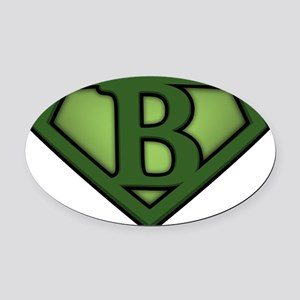 Super green b Oval Car Magnet