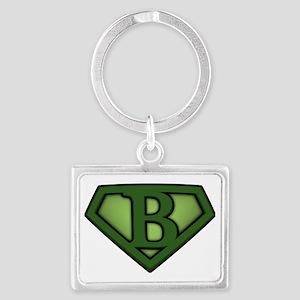 Super green b Landscape Keychain