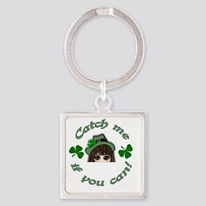 Catch-Me-If-You-Can-004-transp Square Keychain
