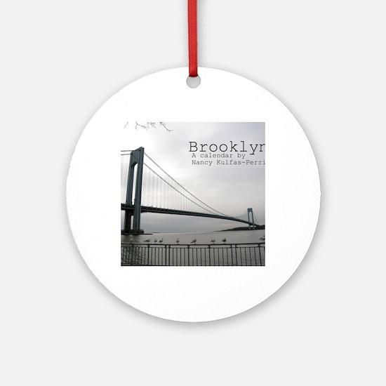 brooklyn cover Round Ornament
